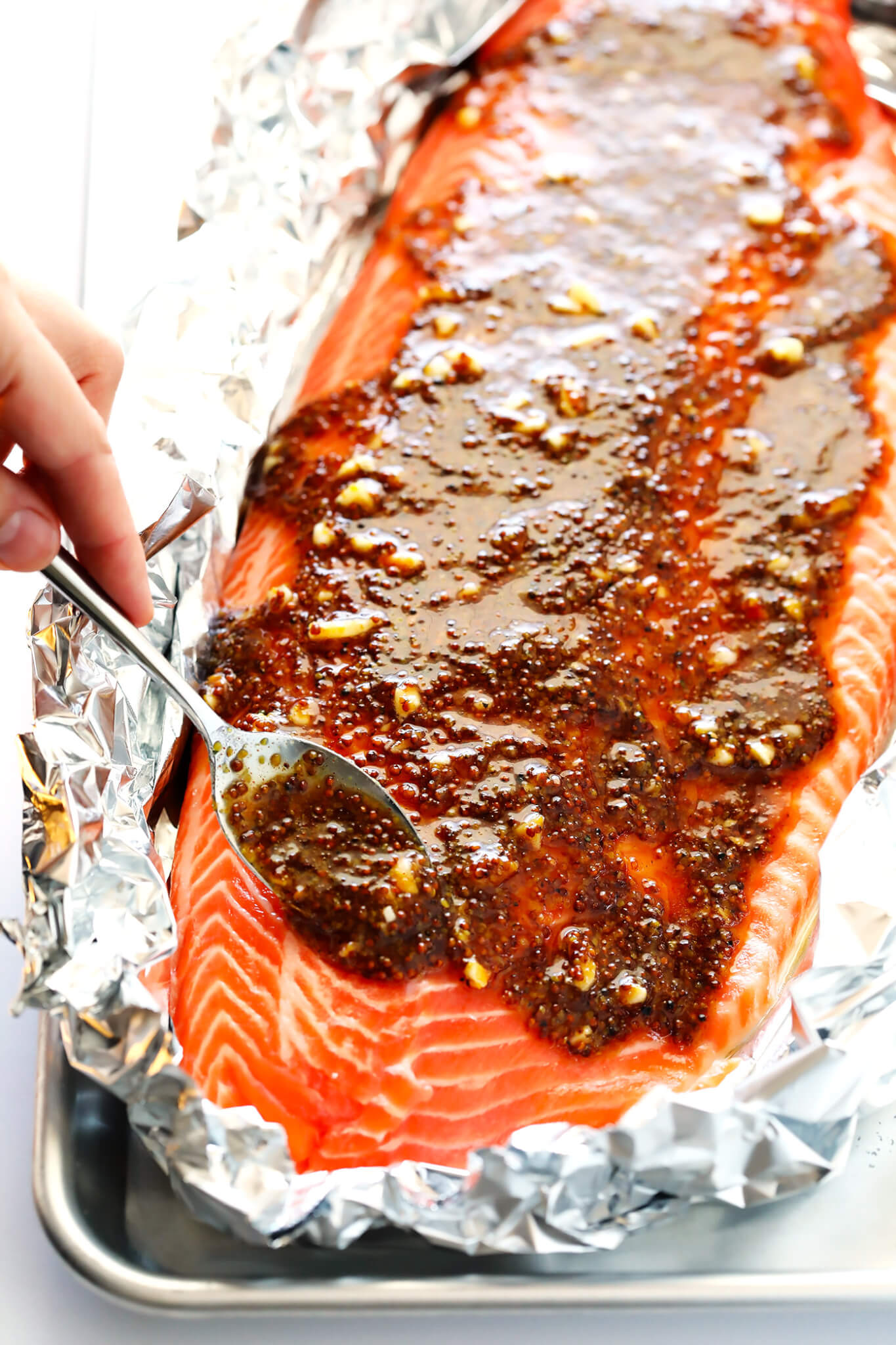 How To Cook Salmon with Honey Mustard Sauce