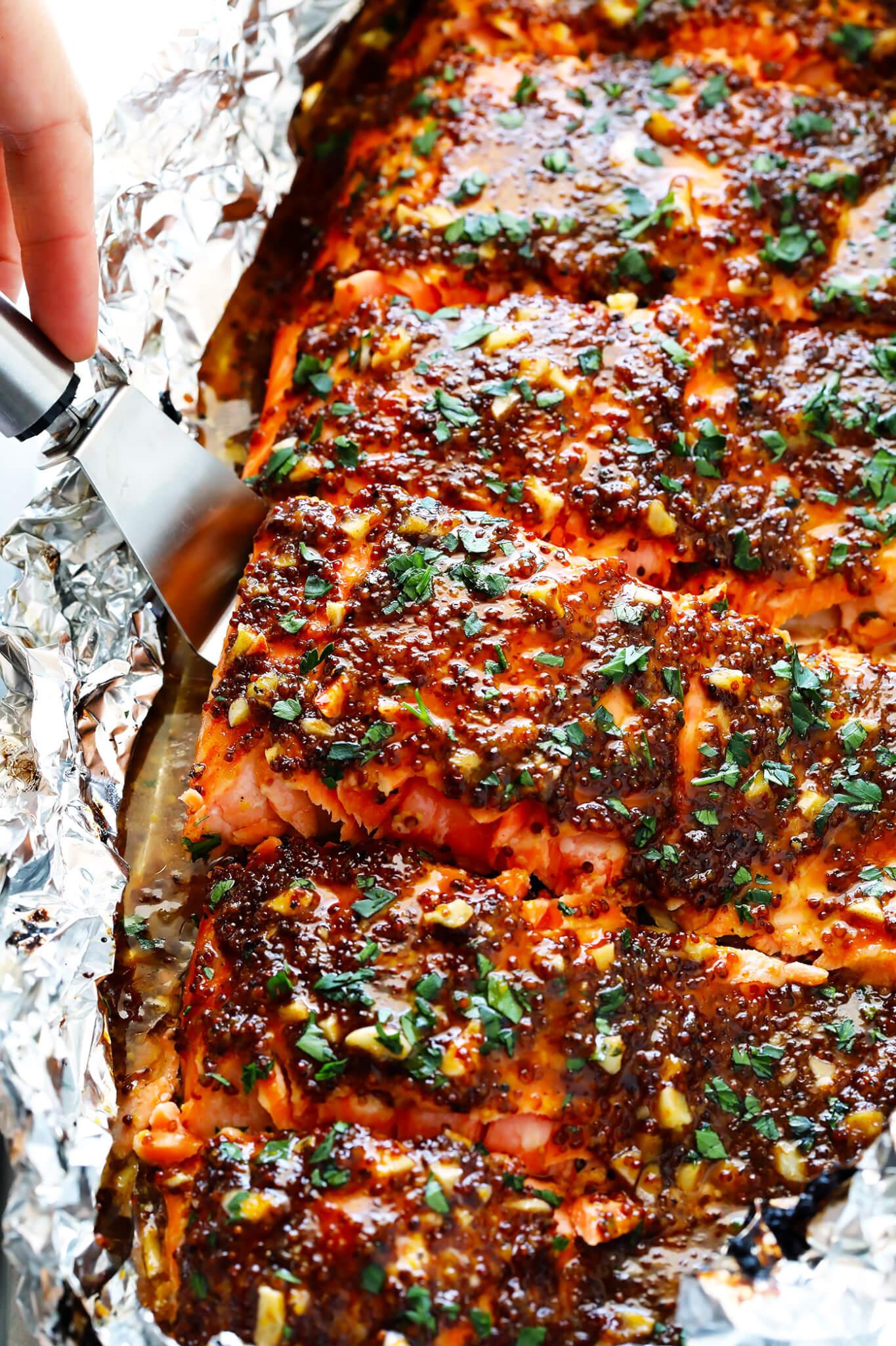 Honey Mustard Salmon Recipe
