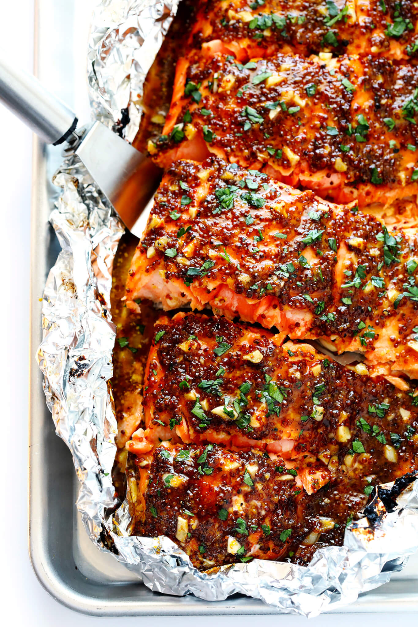 Honey Mustard Salmon | Baked or Grilled