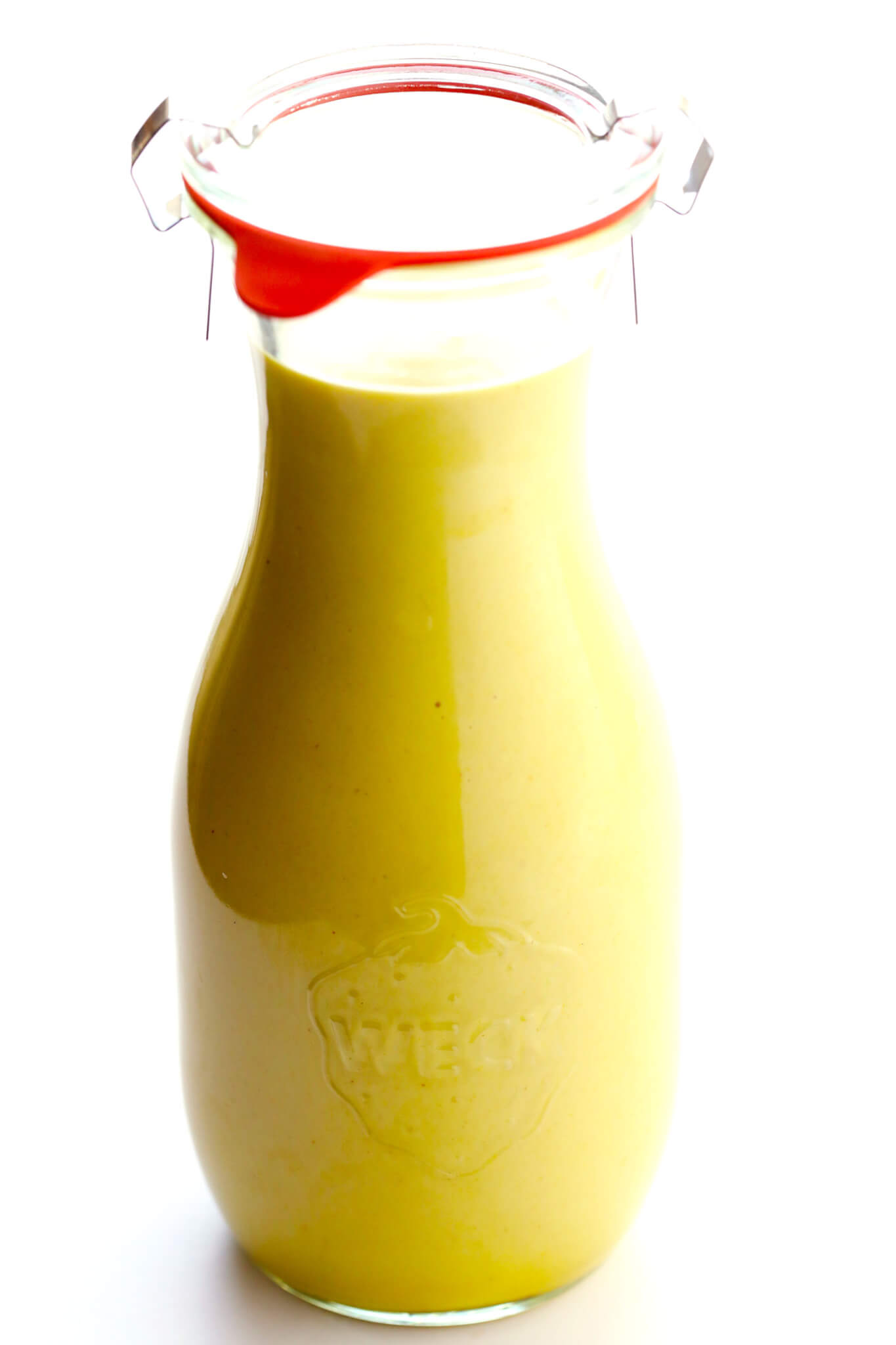 This 4-Ingredient Honey Mustard Dressing is the BEST!! It's super easy to make, perfectly sweet and savory, and always so delicious. Perfect for salads, drizzled on chicken or salmon or veggies, or even used as a dipping sauce.   gimmesomeoven.com (Vegetarian / Gluten-Free)