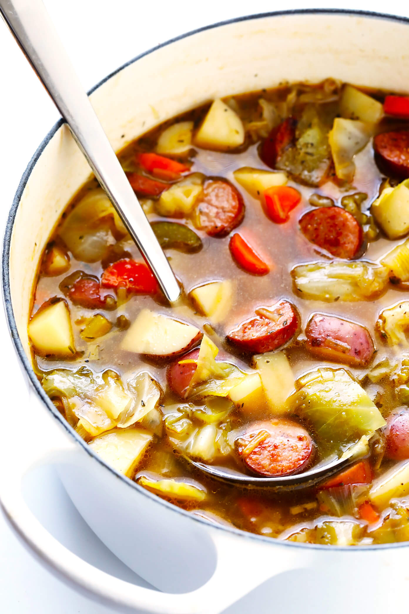 Cabbage Soup Recipe with Sausage and Potato
