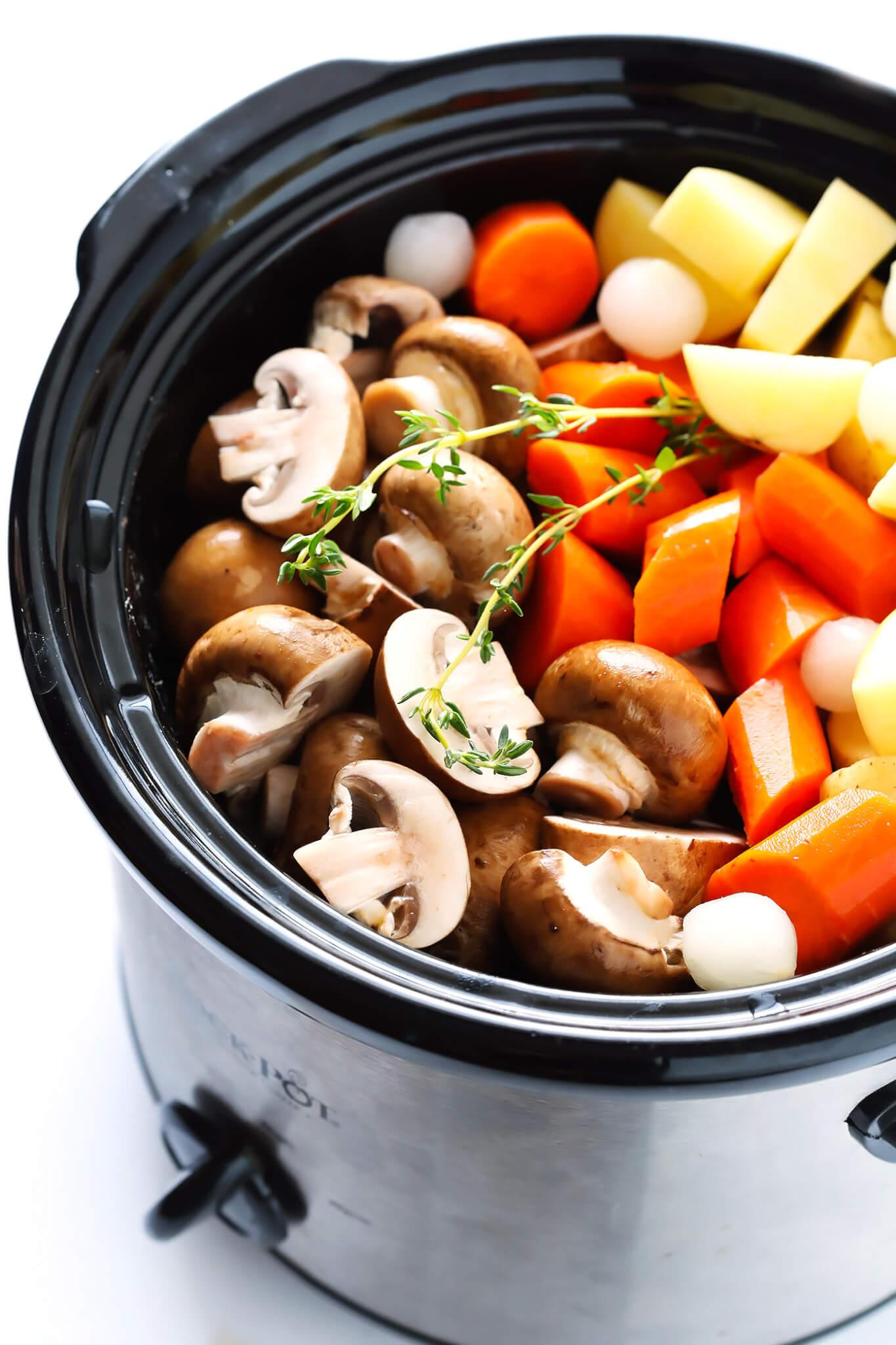 Vegetarian Portobello Pot Roast Recipe Ingredients