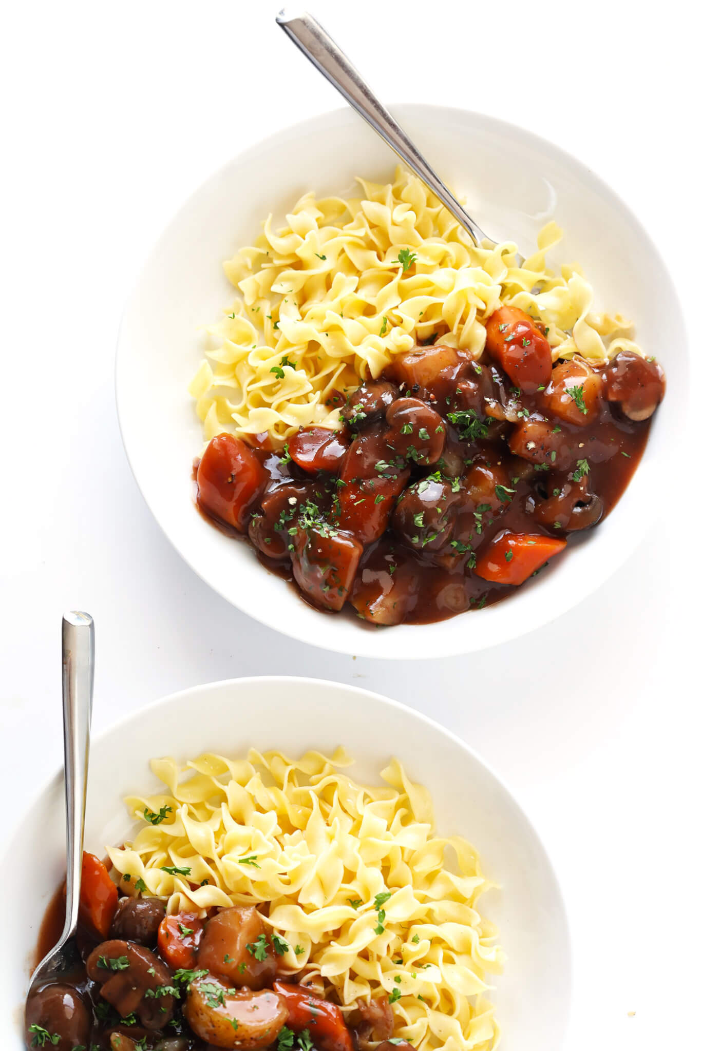 Vegetarian Portobello Pot Roast Recipe with noodles