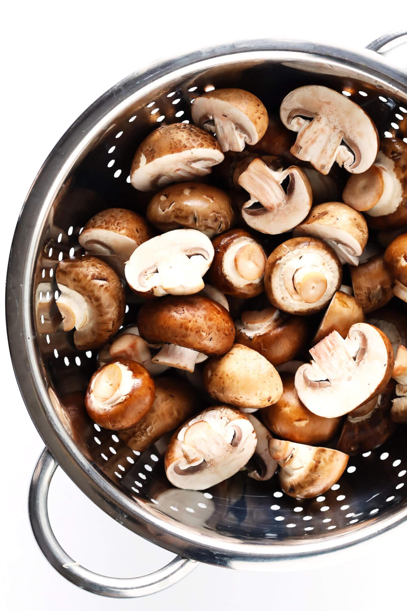 Mushrooms for this Vegetarian Portobello Pot Roast Recipe