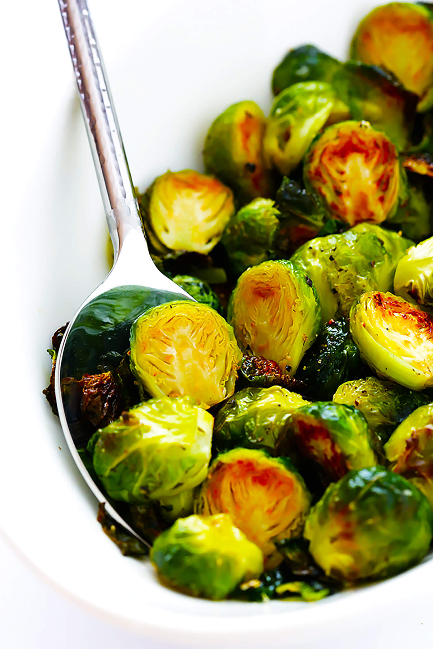 My favorite recipe for classic Roasted Brussels Sprouts. They're easy to make with whatever other seasonings sound good, but the classic recipe is hard to beat! | Gimme Some Oven