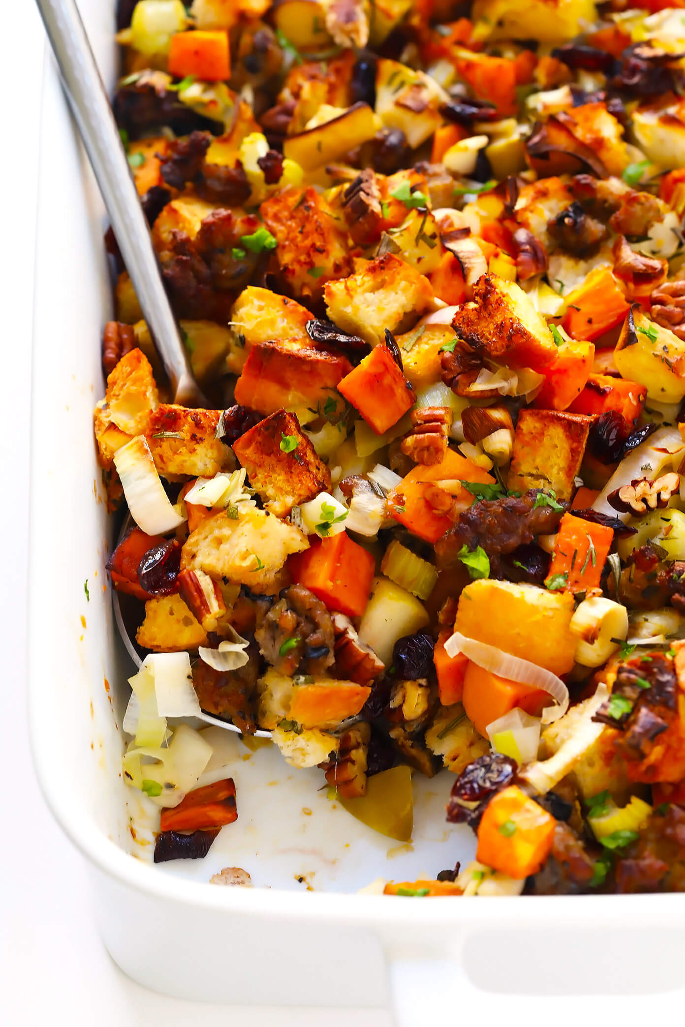 The Best Sausage and Sweet Potato Thanksgiving Stuffing Recipe