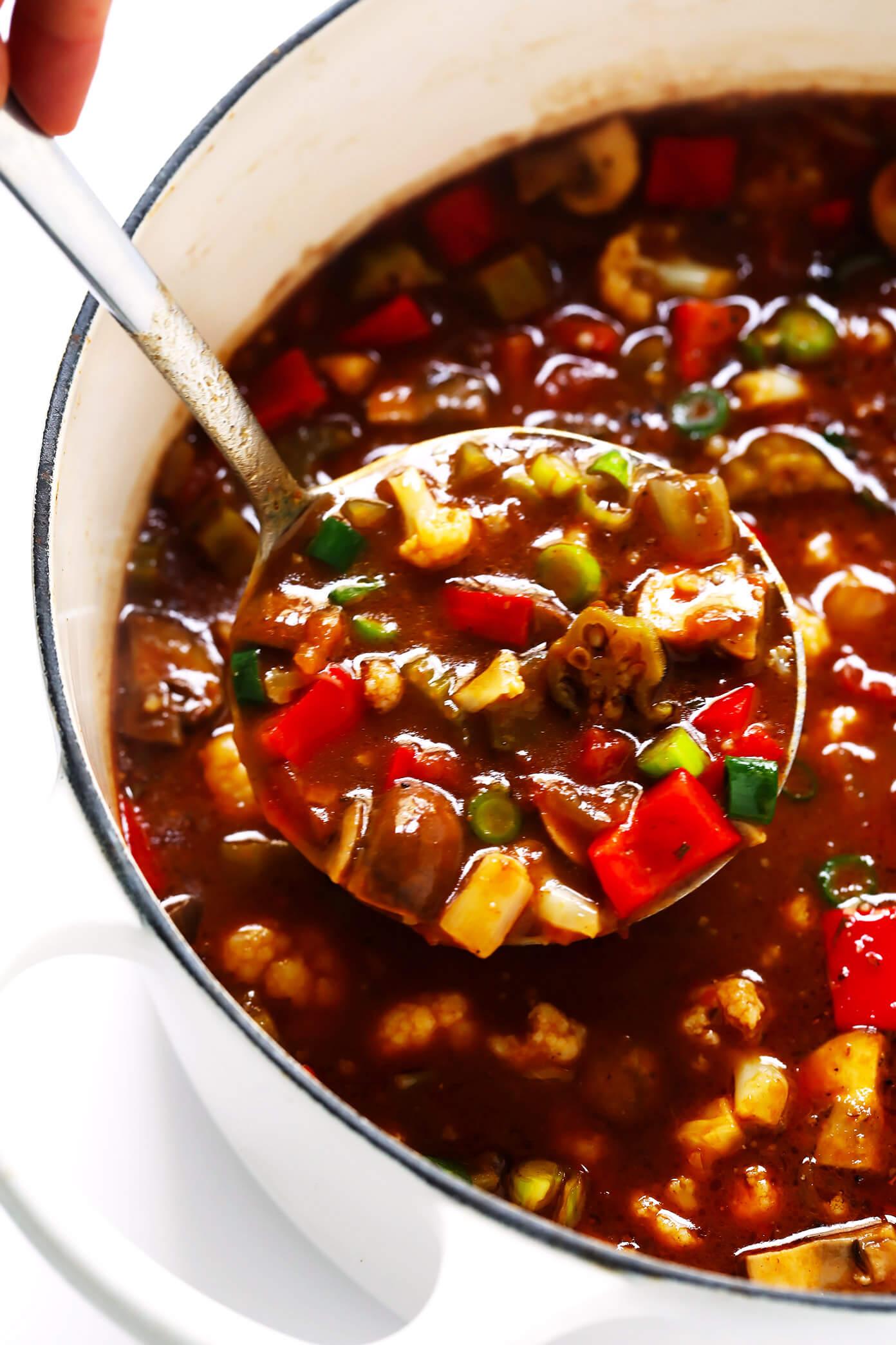 Vegetarian Gumbo Recipe with Cauliflower