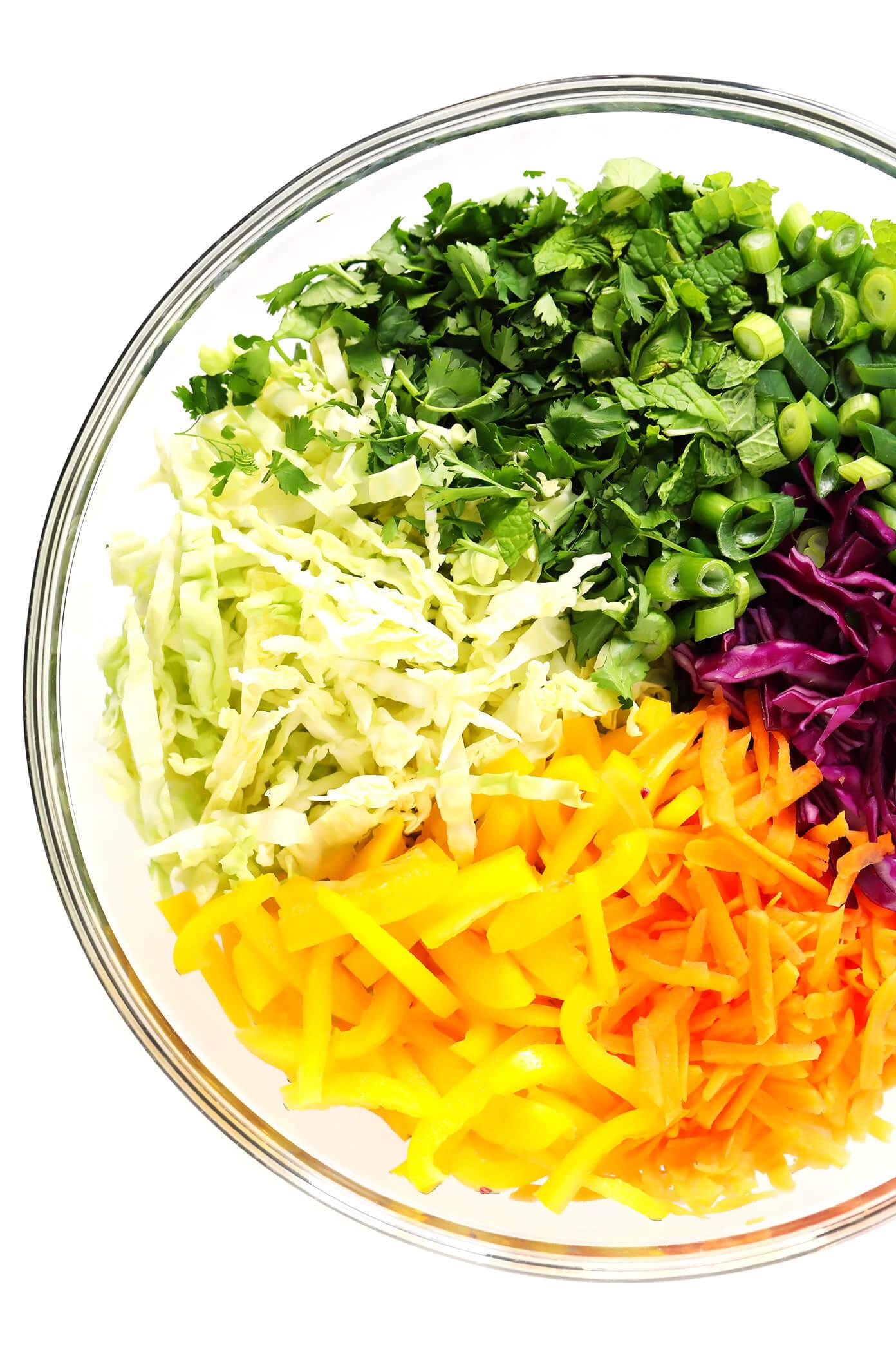 Easy Asian Salad Ingredients