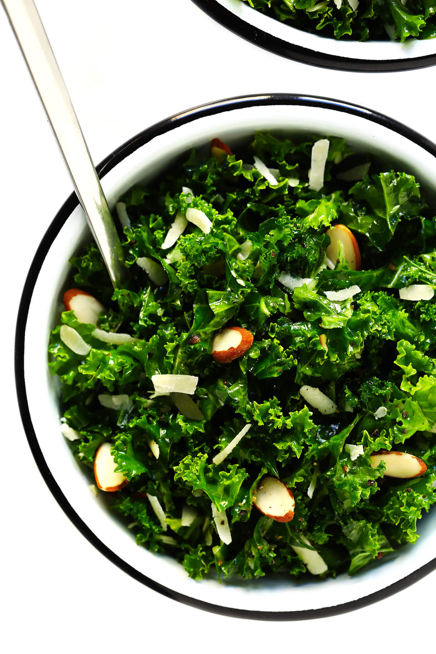 Kale Salad Recipe with Parmesan and Almonds