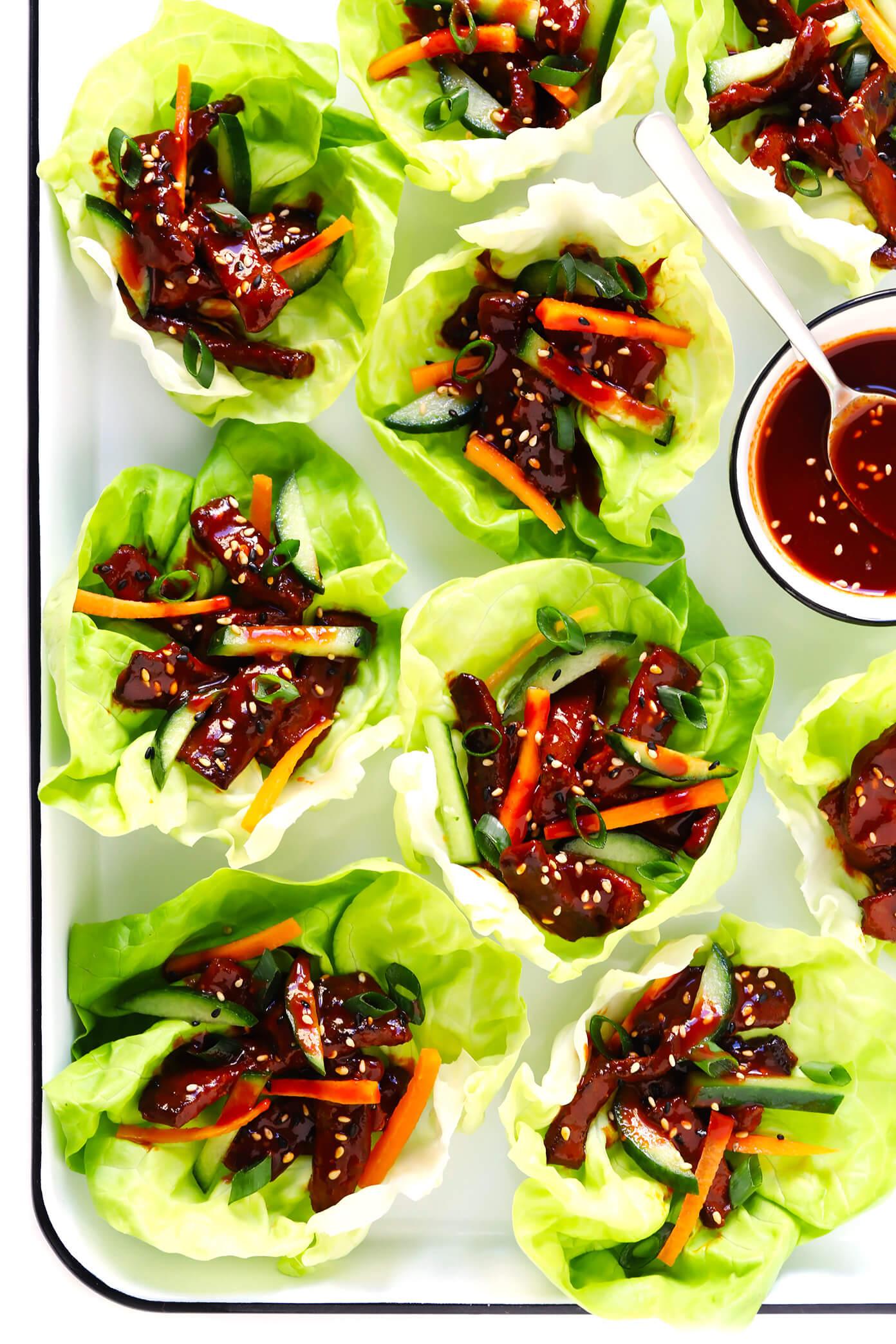Korean Gochujang Lettuce Wraps