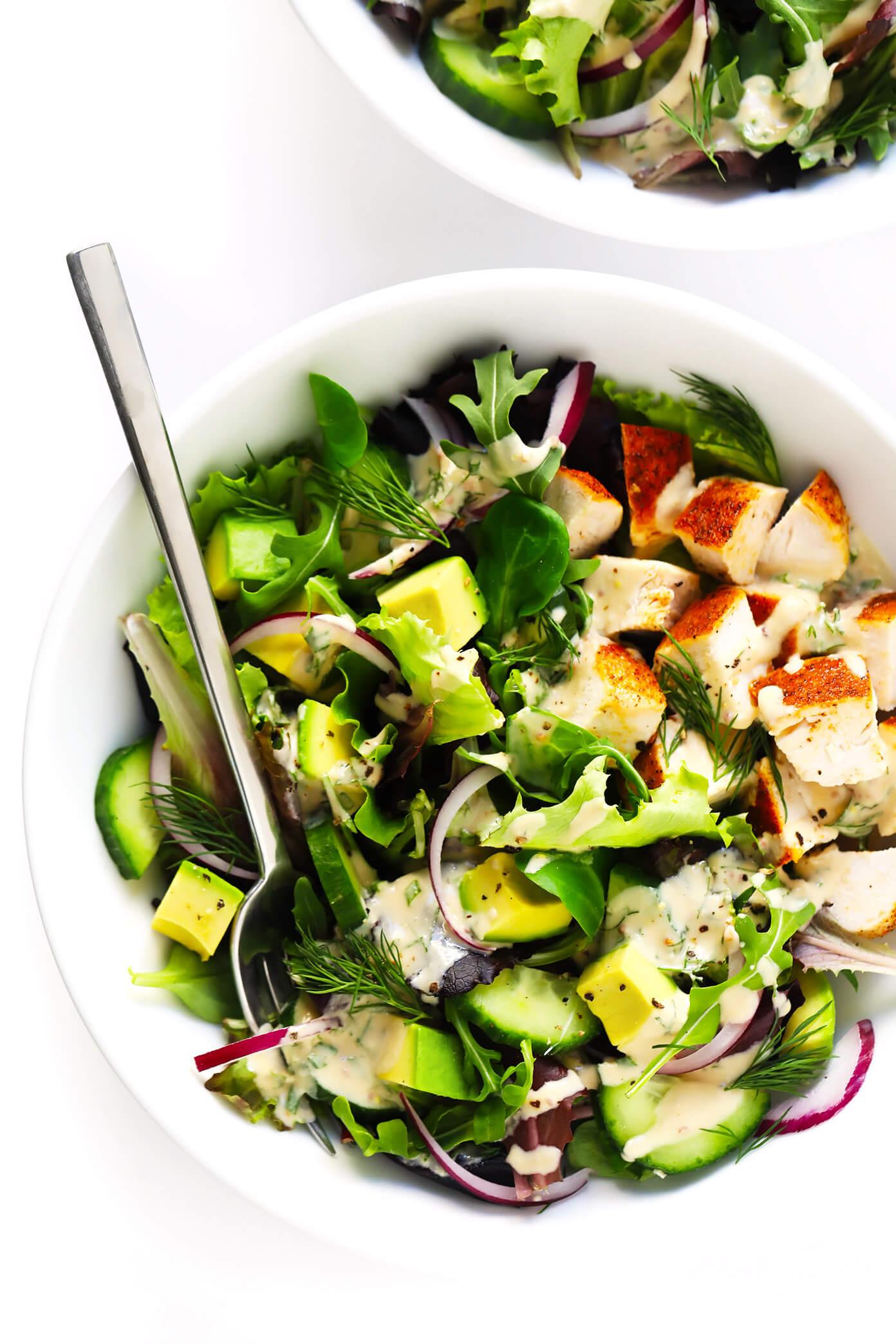 Tahini Ranch Avocado Chicken Salad