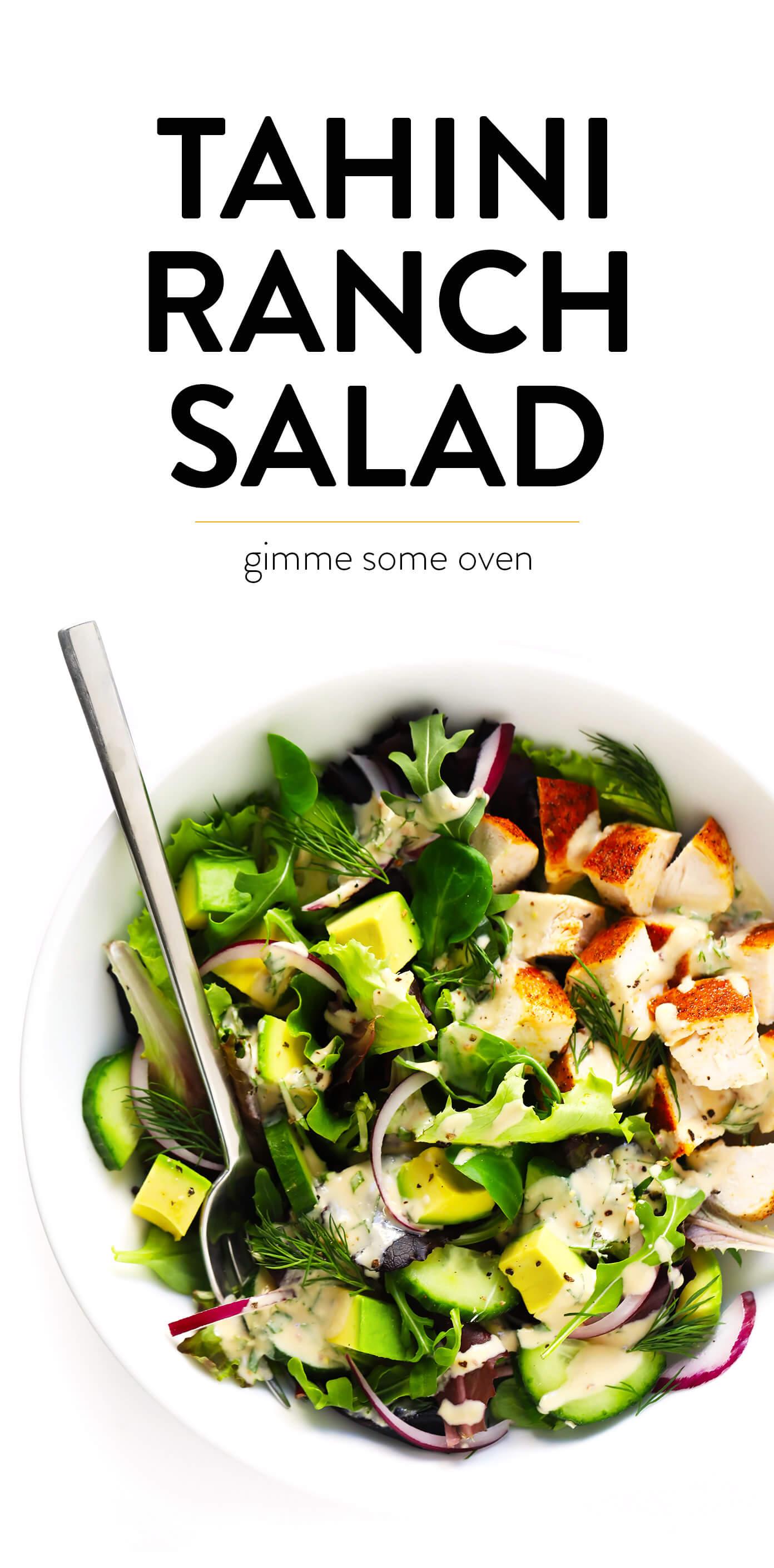 Tahini Ranch Salad Recipe