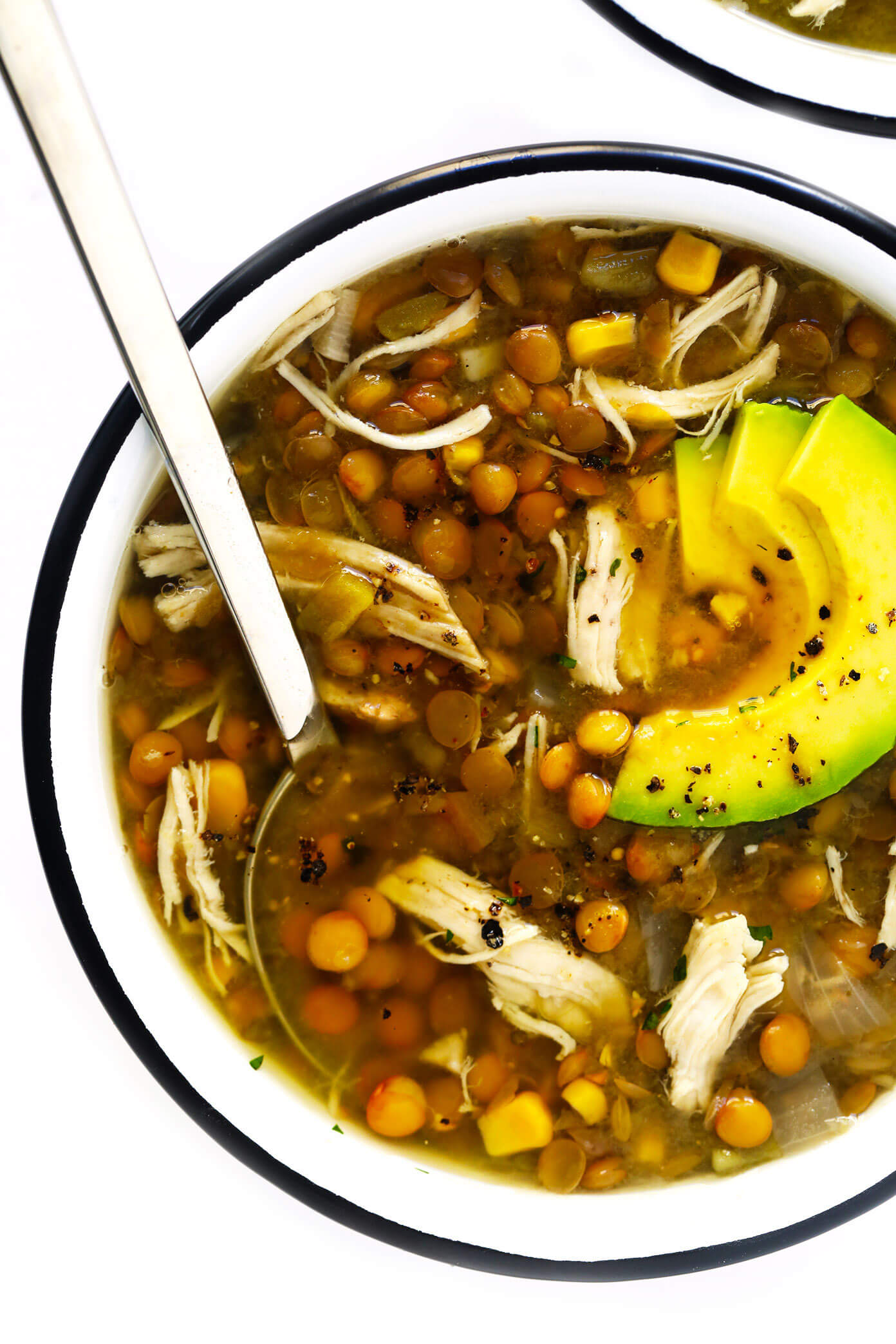Mexican Chicken Lentil Soup
