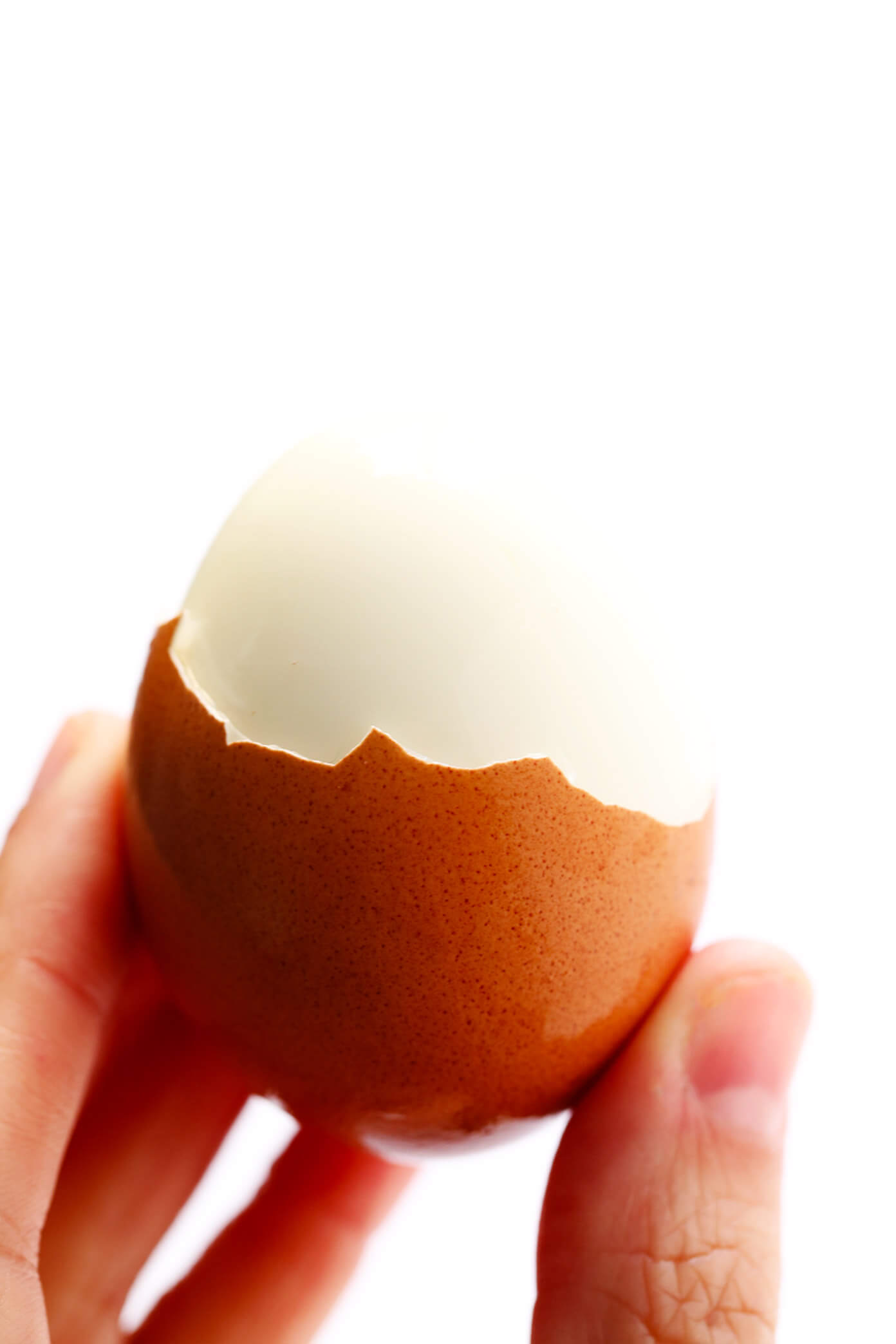 Peeled Hard Boiled Egg Made In The Pressure Cooker
