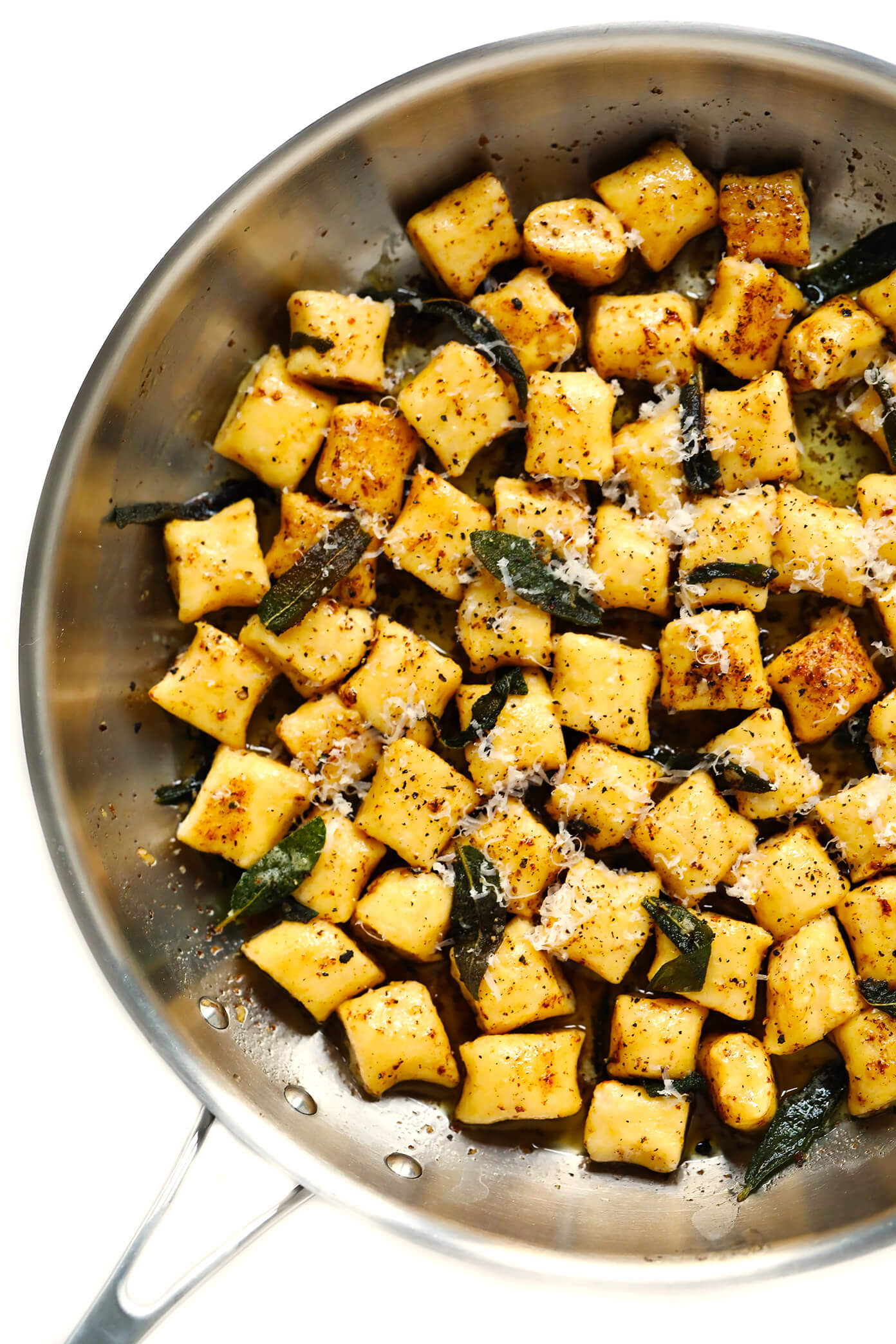 Gnocchi with brown butter sauce and sage