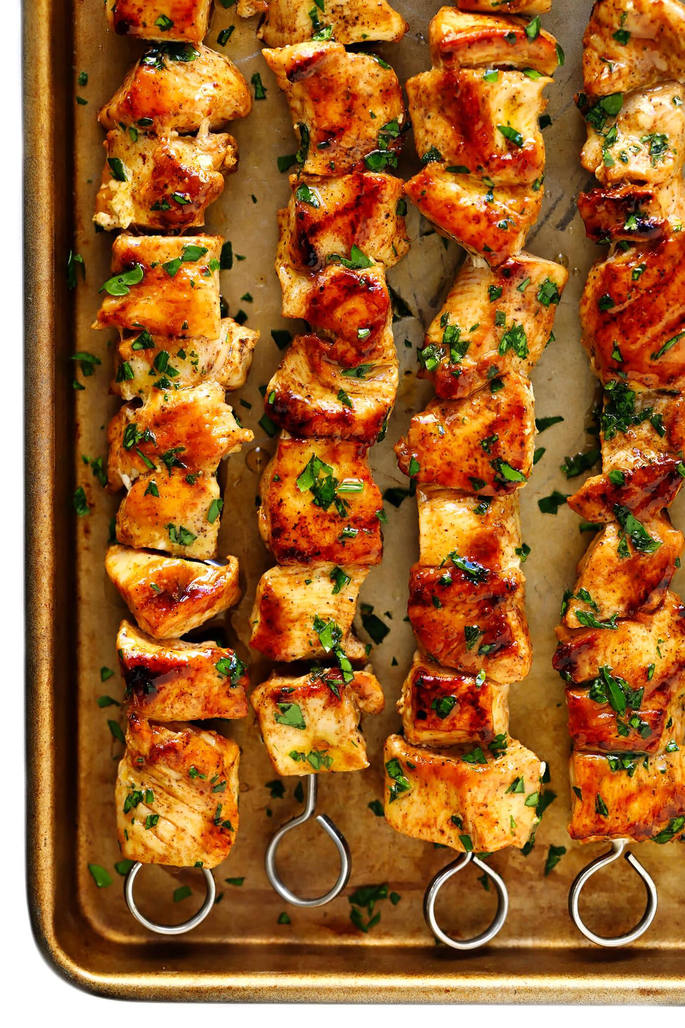 The Juiciest Grilled Chicken Kabobs