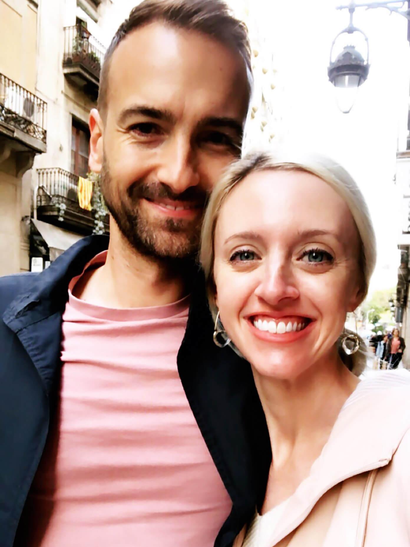 Barclay and Ali Martin in Barcelona