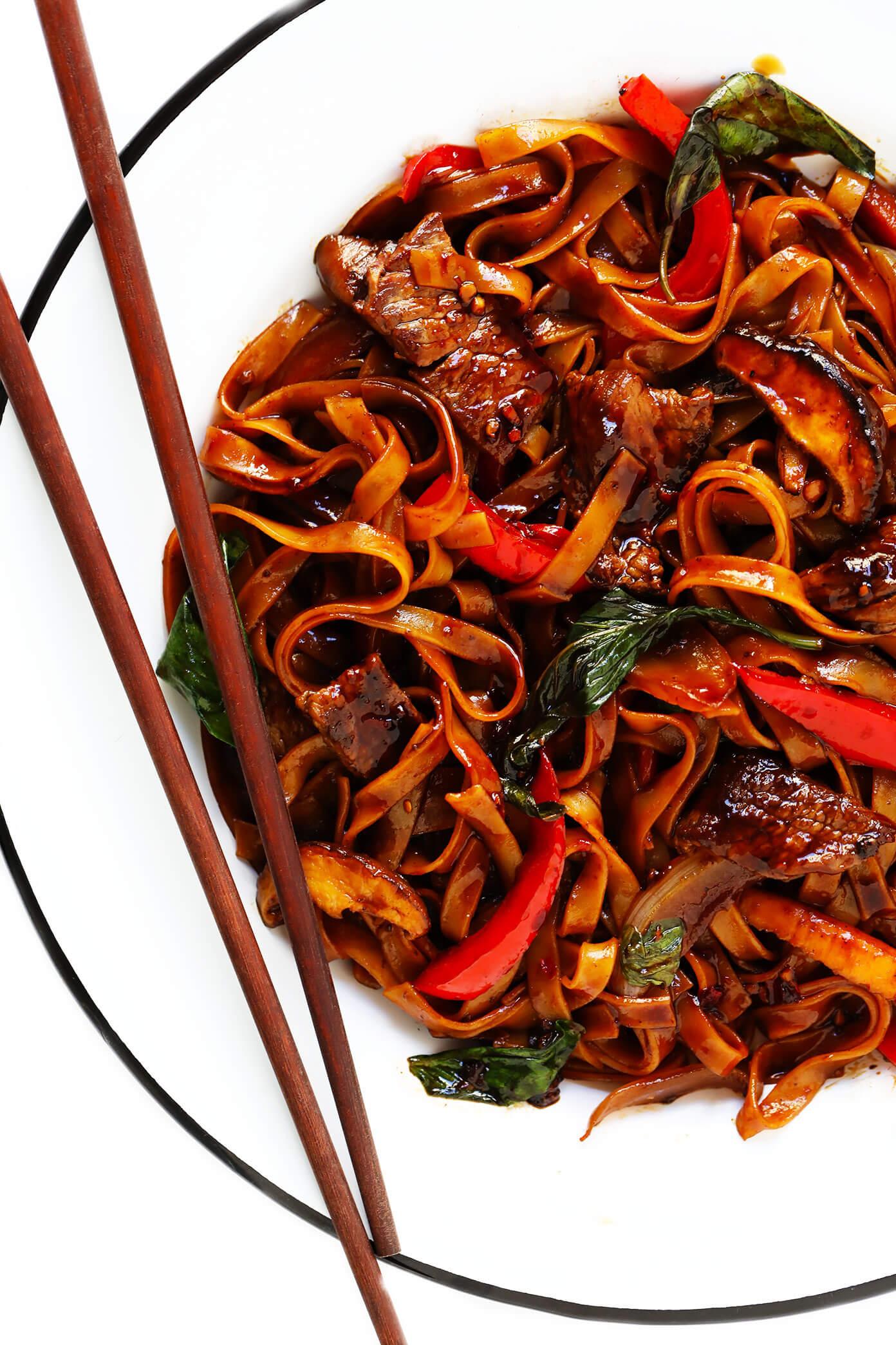 Thai Beef Noodle Stir-Fry   Drunken Noodles