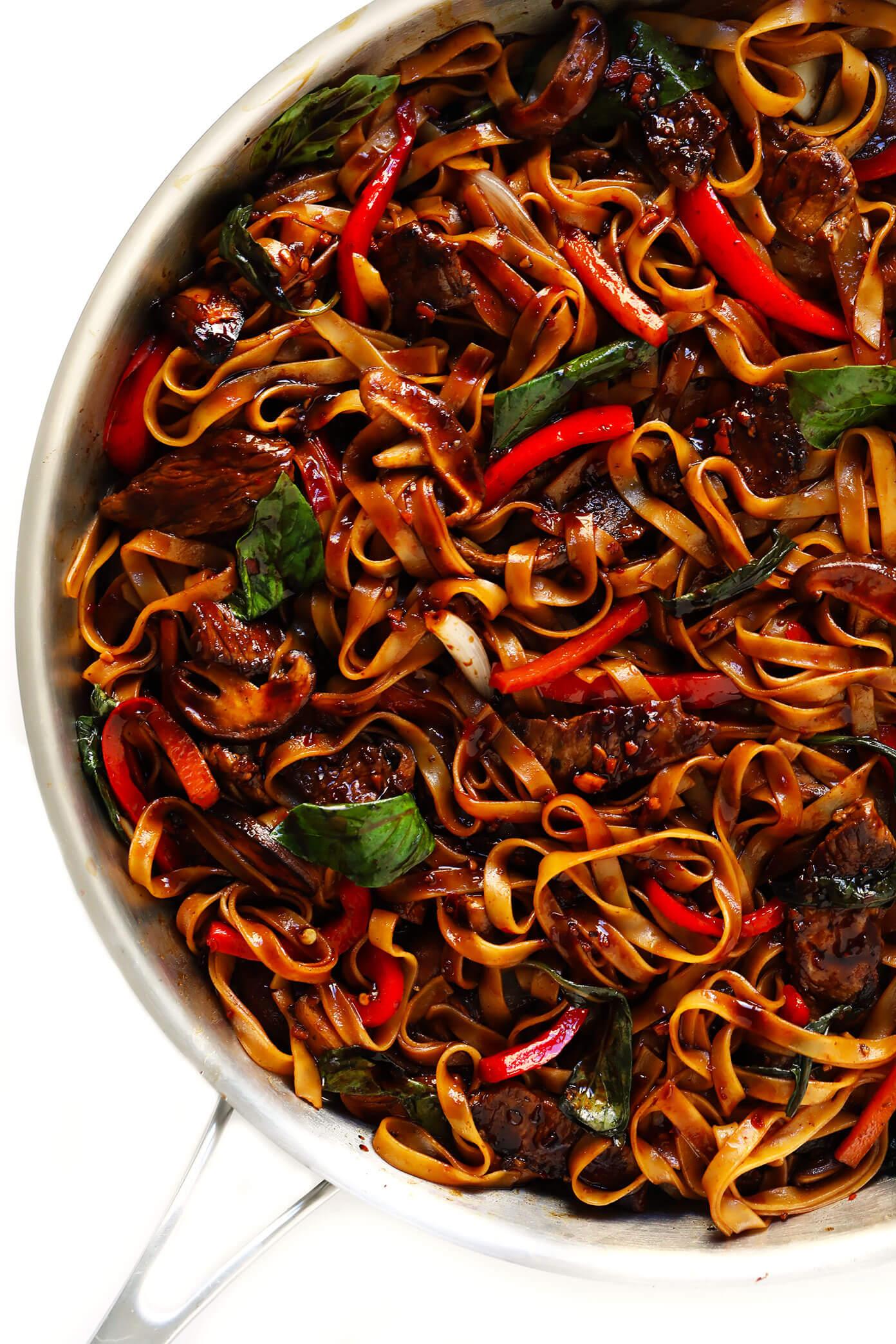 Thai Beef Noodle Stir-Fry