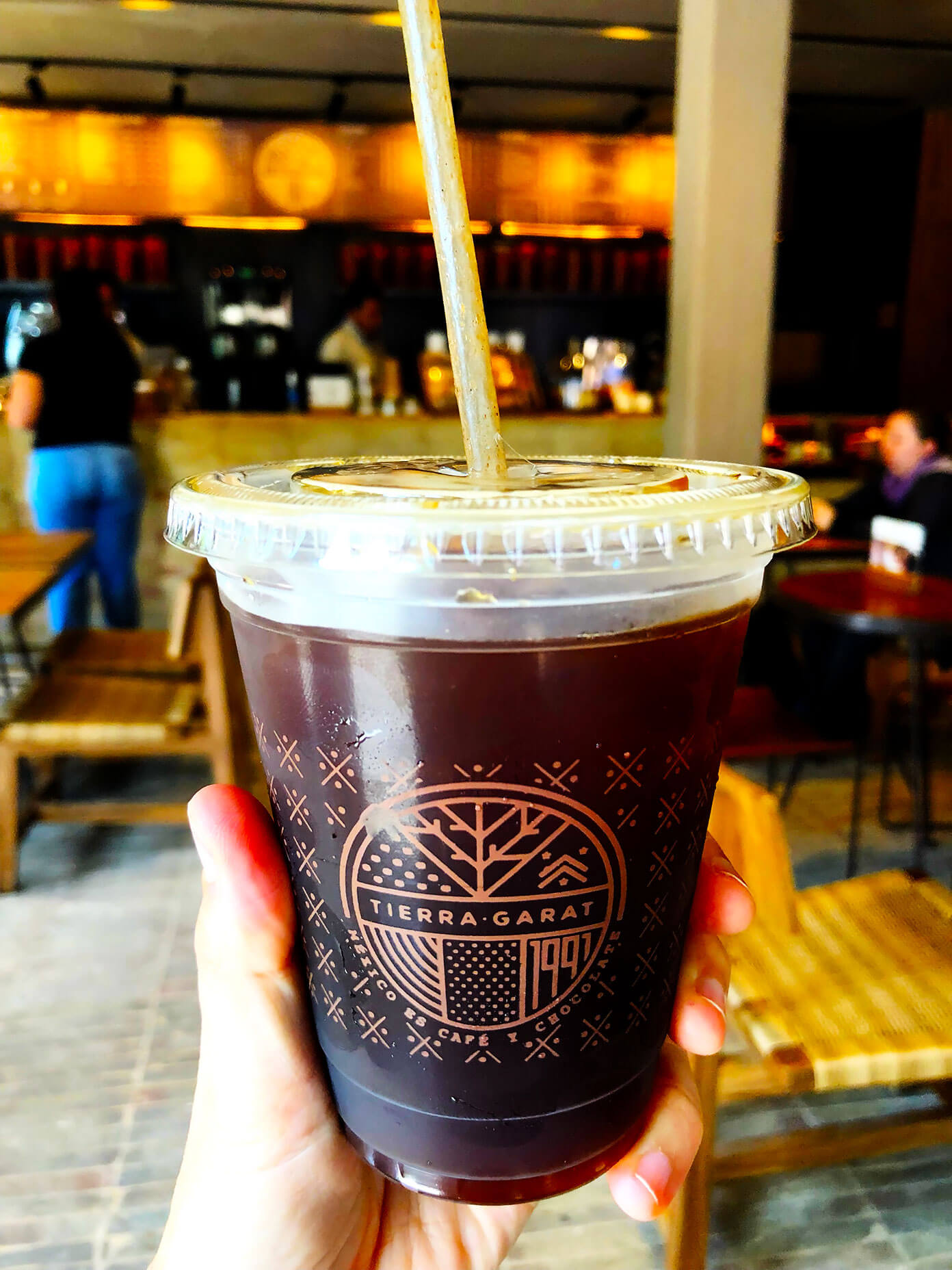 Iced Coffee at Tierra Garat in Mexico City