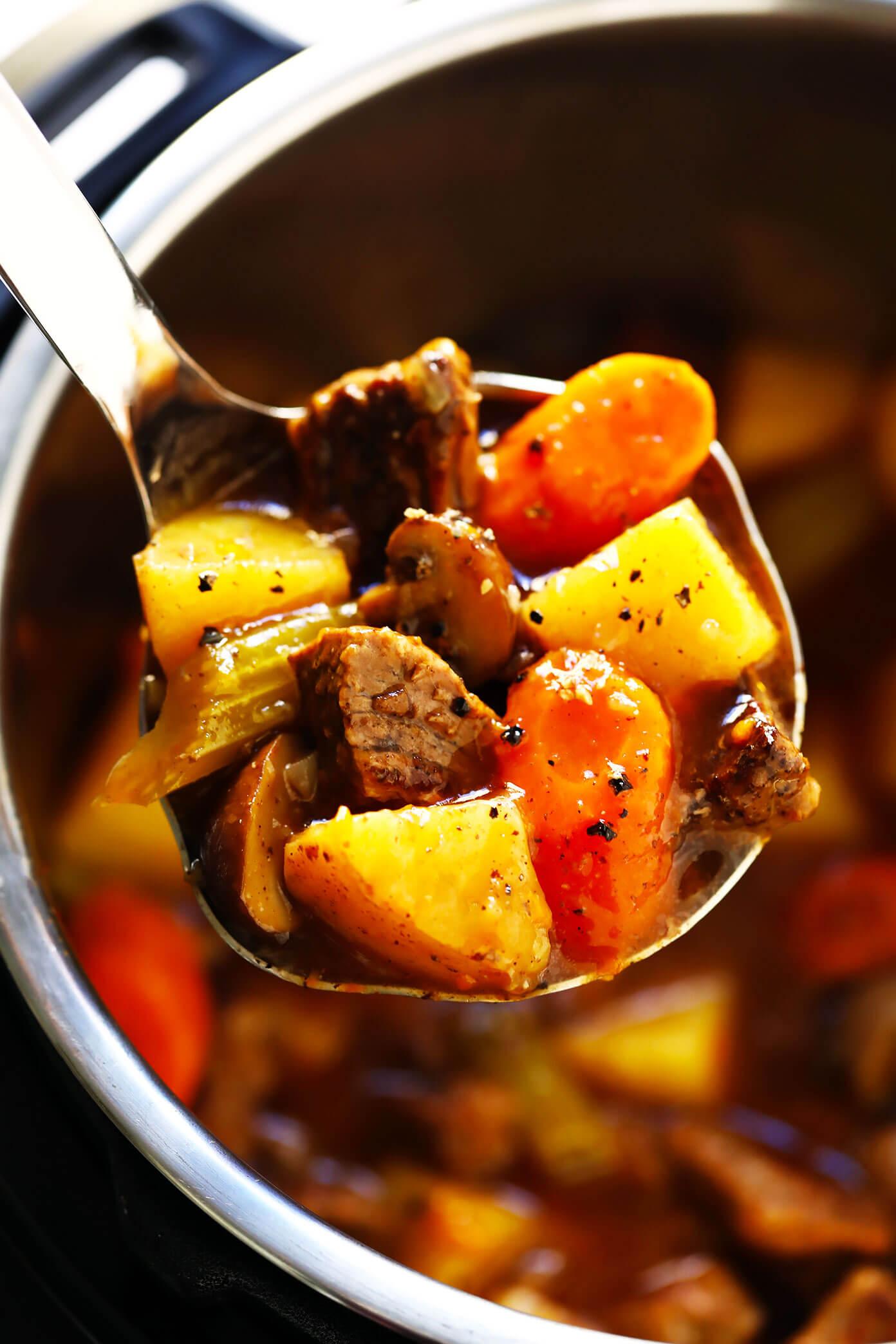 Beef Stew (Crock Pot or Instant Pot)