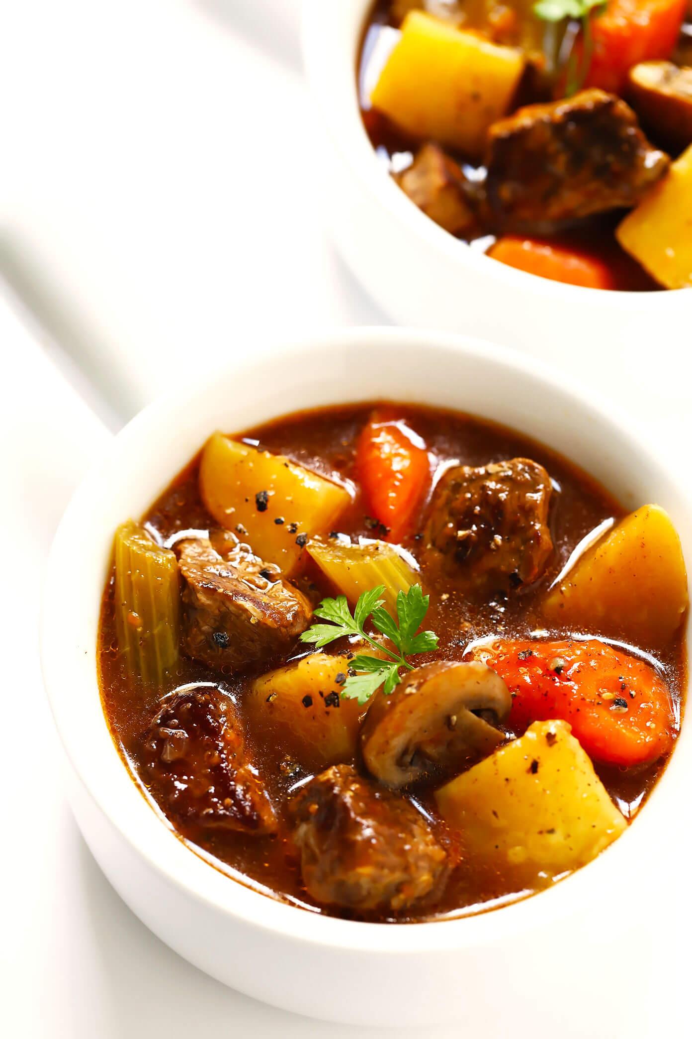 Beef Stew Recipe (Crock Pot or Instant Pot)