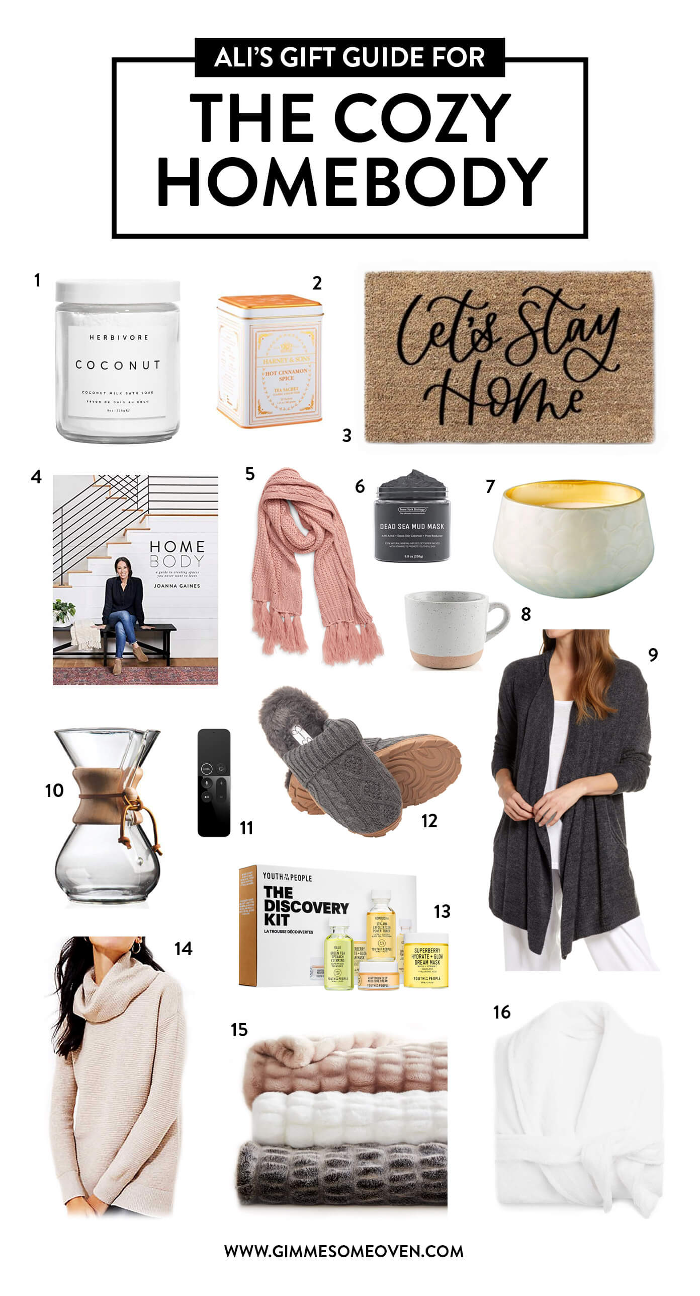Gift Guide For The Cozy Homebody