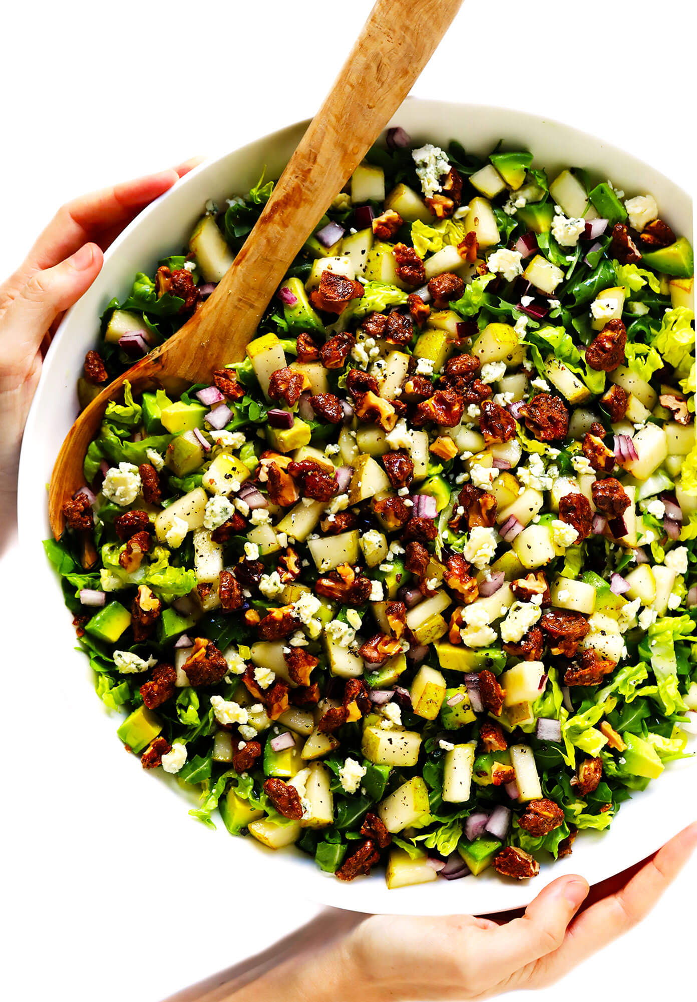 Easy Pear Salad Recipe with Gorgonzola and Candied Walnuts