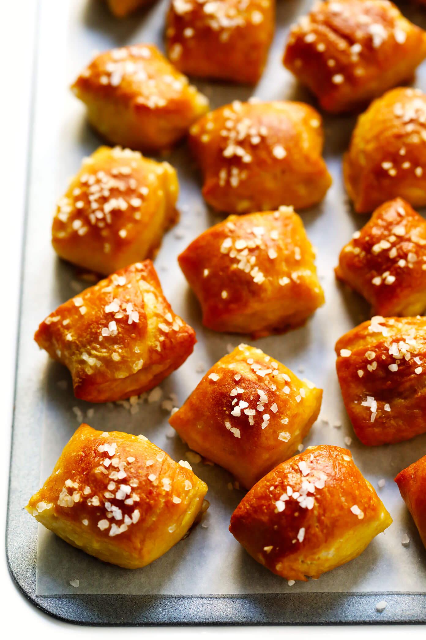 Homemade Pretzel Bites Recipe