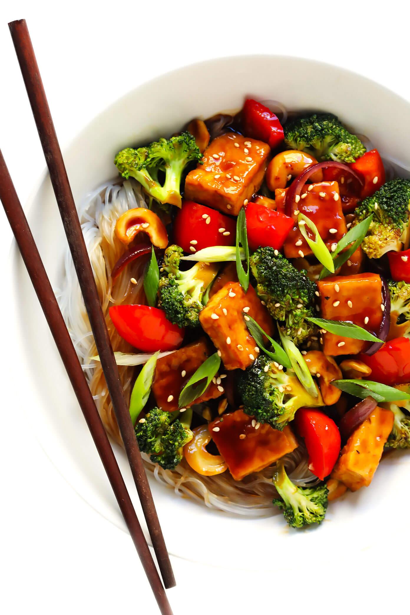 Cashew Tofu Stir-Fry Recipe | Gimme Some Oven