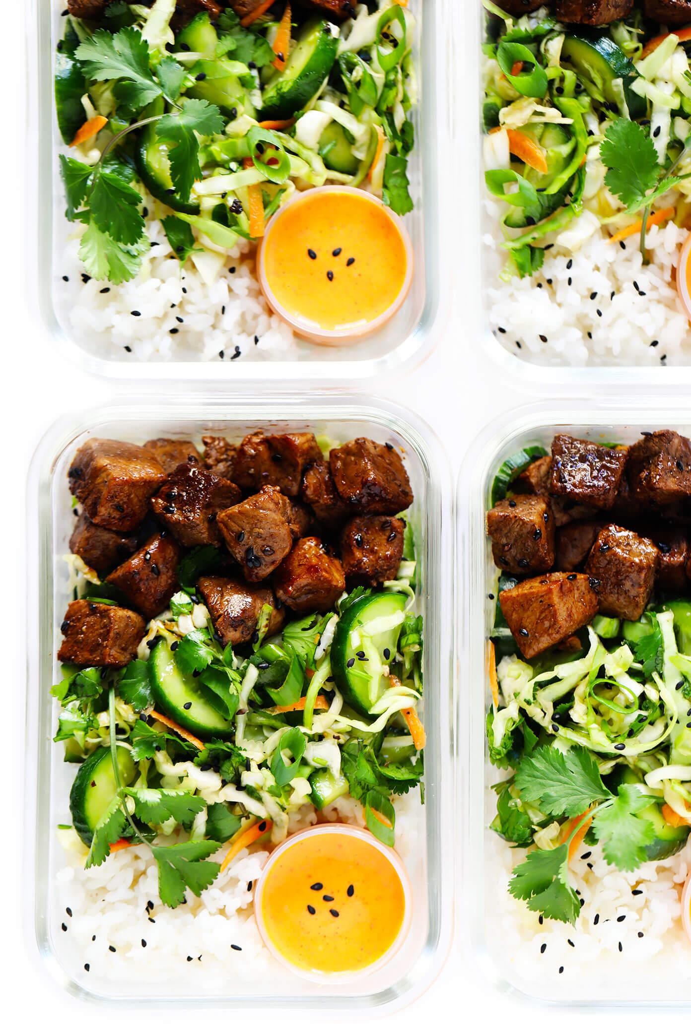 Easy Meal Prep Recipe   Korean Beef Bowls with Sesame Slaw