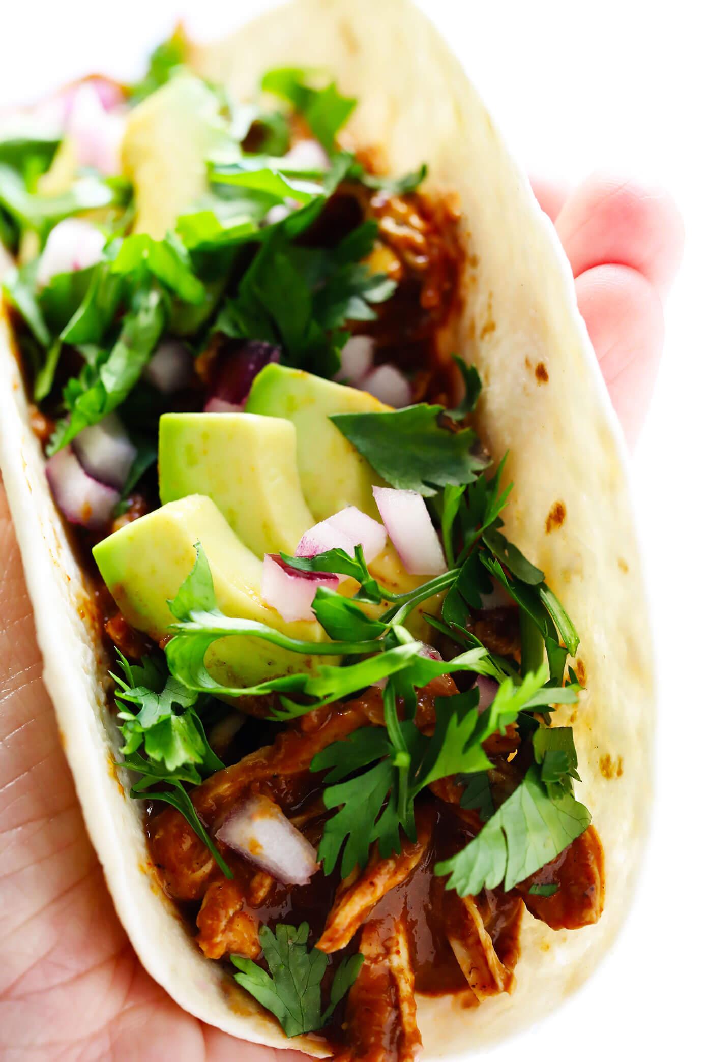 Easy Chicken Tacos with Mole Sauce Recipe