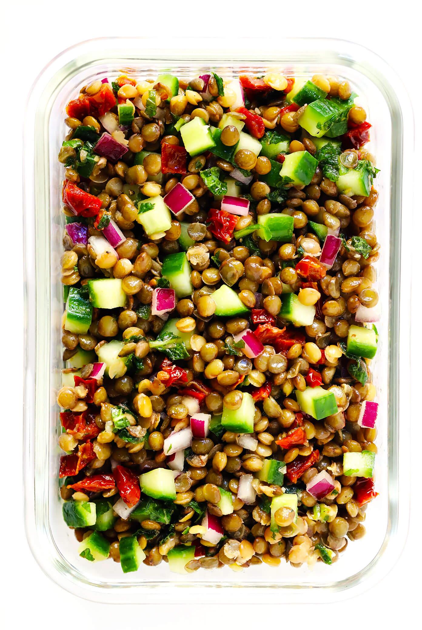 Lentil Salad Meal Prep Recipe